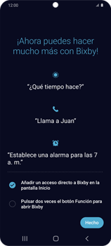 Cómo habilitar el asistente Bixby - Samsung Galaxy S20 - Passo 14