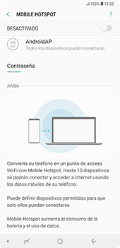 Configura el hotspot móvil - Samsung A7 2018 - Passo 11