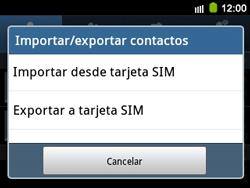 ¿Tu equipo puede copiar contactos a la SIM card? - Samsung Galaxy Y Pro GT - B5510 - Passo 5