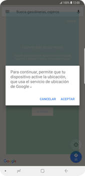 Uso de la navegación GPS - Samsung Galaxy S9 Plus - Passo 5