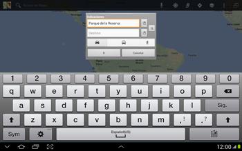 Uso de la navegación GPS - Samsung Galaxy Note 10-1 - N8000 - Passo 13
