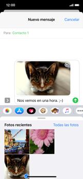 Envía fotos, videos y audio por mensaje de texto - Apple iPhone XS - Passo 14