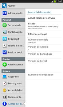 Actualiza el software del equipo - Samsung Galaxy Tab 3 7.0 - Passo 6