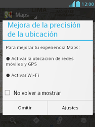 Uso de la navegación GPS - LG Optimus L3 II - Passo 4