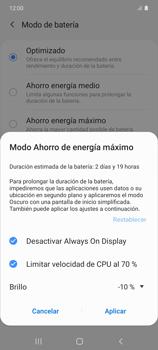 Modo de ahorro de batería - Samsung Galaxy S10 Lite - Passo 7