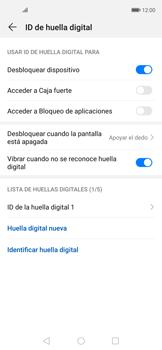 Habilitar seguridad de huella digital - Huawei Nova 5T - Passo 10