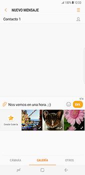 Envía fotos, videos y audio por mensaje de texto - Samsung Galaxy Note 8 - Passo 9