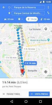 Uso de la navegación GPS - Motorola Moto E5 - Passo 15