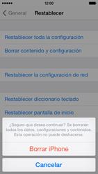 Restaura la configuración de fábrica - Apple iPhone 5c - Passo 8