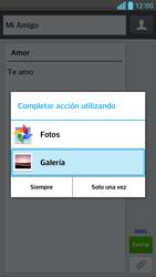 Envía fotos, videos y audio por mensaje de texto - LG Optimus G Pro Lite - Passo 14
