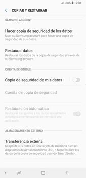 Realiza una copia de seguridad con tu cuenta - Samsung Galaxy Note 9 - Passo 6