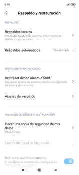 Realiza una copia de seguridad con tu cuenta - Xiaomi Redmi Note 9 Pro - Passo 6