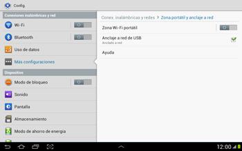 Comparte la conexión de datos con una PC - Samsung Galaxy Note 10-1 - N8000 - Passo 8