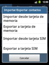 ¿Tu equipo puede copiar contactos a la SIM card? - Samsung Galaxy Y  GT - S5360 - Passo 5