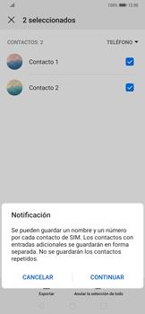 ¿Tu equipo puede copiar contactos a la SIM card? - Huawei Mate 20 Pro - Passo 8