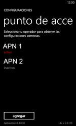 Configura el Internet - Nokia Lumia 720 - Passo 20