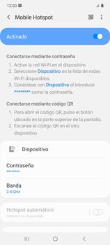 Configura el hotspot móvil - Samsung Galaxy S10 Lite - Passo 12