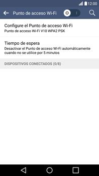 Configura el hotspot móvil - LG V10 - Passo 6