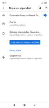 Realiza una copia de seguridad con tu cuenta - Xiaomi Redmi Note 9 Pro - Passo 13