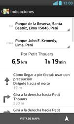 Uso de la navegación GPS - LG Optimus L5 II - Passo 18