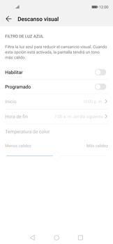 Cómo activar el modo Descanso visual para evitar la fatiga visual - Huawei Nova 5T - Passo 4