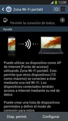 Configura el hotspot móvil - Samsung Galaxy S4  GT - I9500 - Passo 7