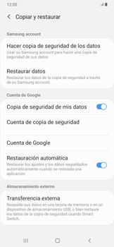 Realiza una copia de seguridad con tu cuenta - Samsung Galaxy A30 - Passo 7