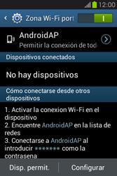 Configura el hotspot móvil - Samsung Galaxy Fame GT - S6810 - Passo 11