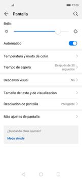 Cómo activar el modo Descanso visual para evitar la fatiga visual - Huawei Nova 5T - Passo 3