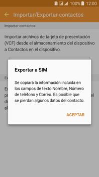 ¿Tu equipo puede copiar contactos a la SIM card? - Samsung Galaxy J7 - J700 - Passo 9