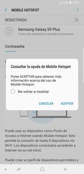 Configura el hotspot móvil - Samsung Galaxy S9 Plus - Passo 13