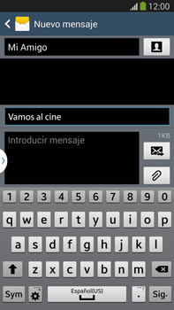 Envía fotos, videos y audio por mensaje de texto - Samsung Galaxy Note Neo III - N7505 - Passo 11