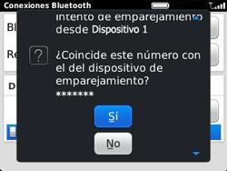 Conecta con otro dispositivo Bluetooth - BlackBerry Curve 9320 - Passo 12