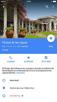 Uso de la navegación GPS - Apple iPhone 7 Plus - Passo 9