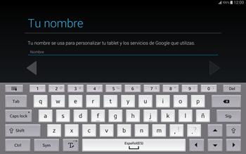 Crea una cuenta - Samsung Galaxy Note Pro - Passo 4