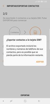 ¿Tu equipo puede copiar contactos a la SIM card? - Samsung Galaxy S9 Plus - Passo 13