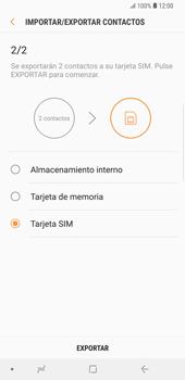 ¿Tu equipo puede copiar contactos a la SIM card? - Samsung Galaxy S9 Plus - Passo 12