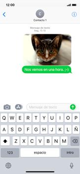Envía fotos, videos y audio por mensaje de texto - Apple iPhone X - Passo 15