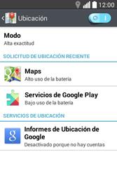 Uso de la navegación GPS - LG L40 - Passo 23
