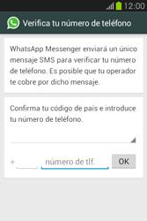 Configuración de Whatsapp - Samsung Galaxy Fame GT - S6810 - Passo 5