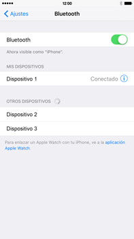 Conecta con otro dispositivo Bluetooth - Apple iPhone 6s Plus - Passo 6