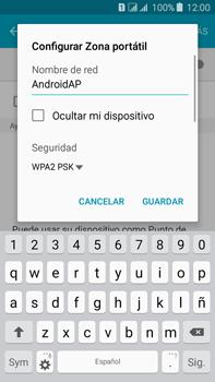 Configura el hotspot móvil - Samsung Galaxy J7 - J700 - Passo 8