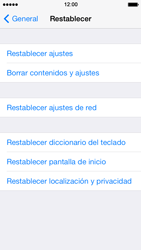 Restaura la configuración de fábrica - Apple iPhone 5s - Passo 5