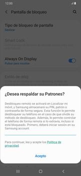 Desbloqueo del equipo por medio del patrón - Samsung Galaxy A50 - Passo 12