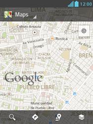 Uso de la navegación GPS - LG Optimus L3 II - Passo 7