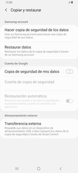 Realiza una copia de seguridad con tu cuenta - Samsung Galaxy A80 - Passo 6