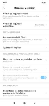 Restaura la configuración de fábrica - Xiaomi Redmi Note 7 - Passo 5
