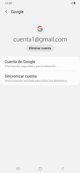 Sincronizar la información con Gmail - Samsung Galaxy A30 - Passo 7
