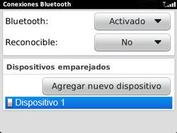 Conecta con otro dispositivo Bluetooth - BlackBerry Curve 9320 - Passo 13