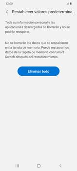 Restaura la configuración de fábrica - Samsung Galaxy S20 - Passo 8